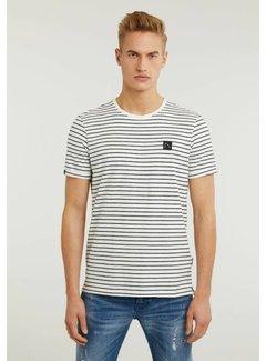 CHASIN' T-shirt Ronde Hals SHORE Navy Blauw (5211.213.132 - E60)