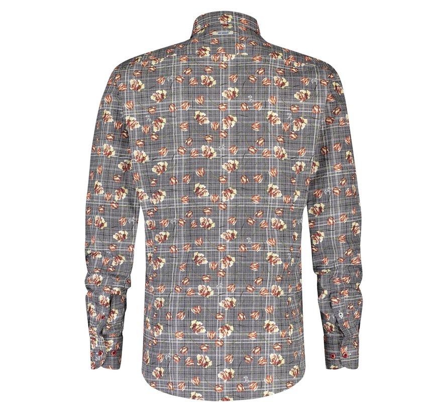 Overhemd Check And Tulips (21.02.023)