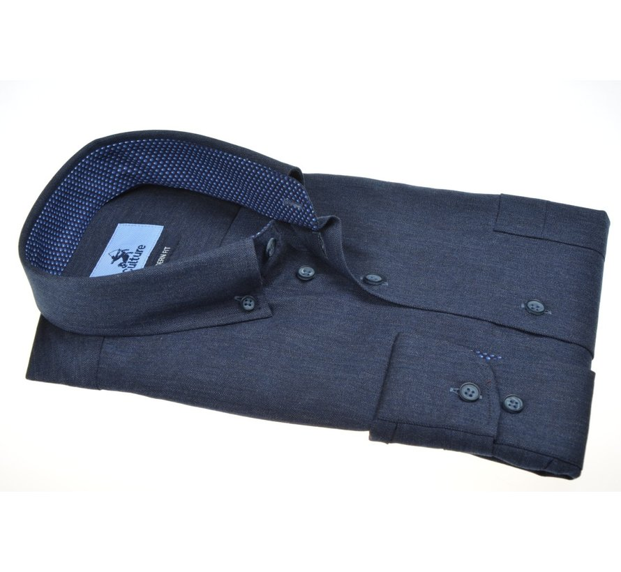 Overhemd Modern Fit Navy (514001 - 39)