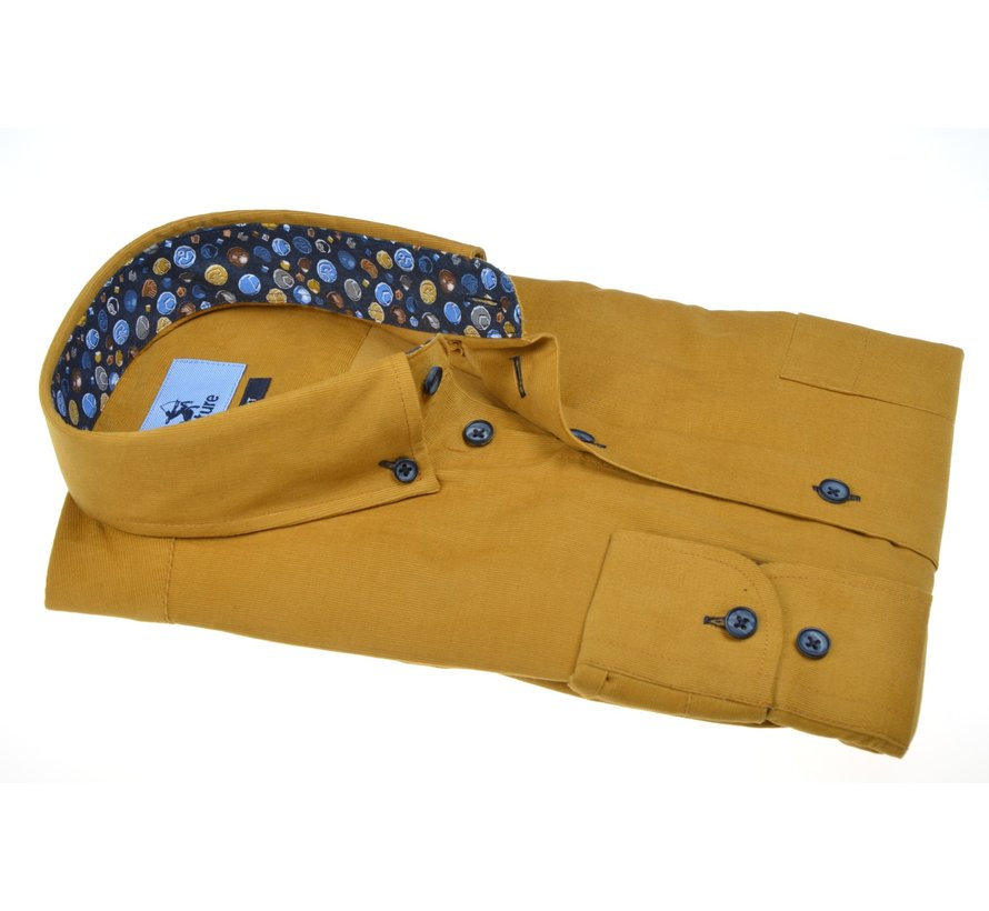 Overhemd Modern Fit Rib Oker Geel (514002 - 66)