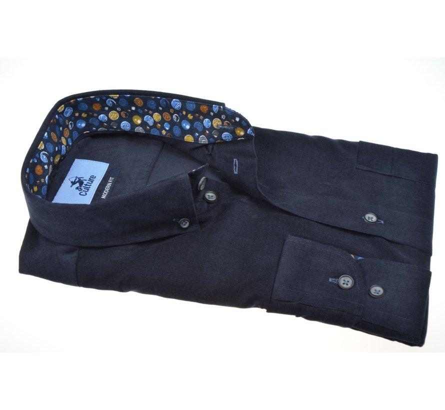 Overhemd Modern Fit Rib Navy (514002 - 39)