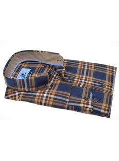 Culture Overhemd Modern Fit Flannel Oker Geel (514003 - 95)