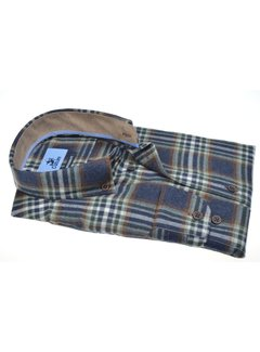 Culture Overhemd Modern Fit Flannel Blauw (514003 - 45)