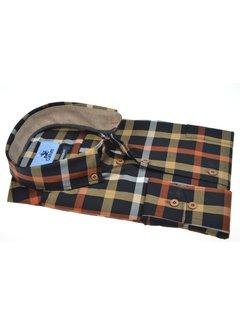 Culture Overhemd Modern Fit Ruit Geel/Oranje (514015 - 20)
