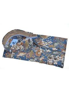 Culture Overhemd Modern Fit Print Bloemen Blauw (514038 - 37)