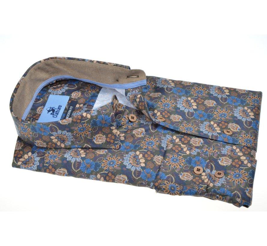 Overhemd Modern Fit Print Bloemen Multicolor (514039 - 55)