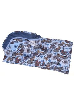Culture Overhemd Modern Fit Bloemen Lichtblauw (514047 - 32)