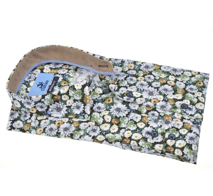 Overhemd Modern Fit Bloemen Wit (514062 - 15)