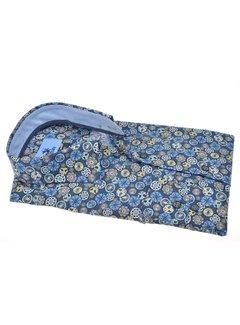 Culture Overhemd Modern Fit Print Blauw (514066 - 36)