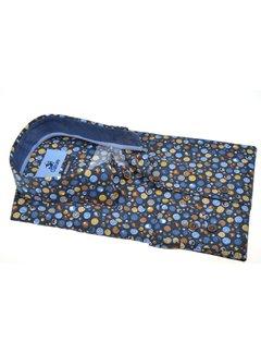 Culture Overhemd Modern Fit Print Blauw (514073 - 38)