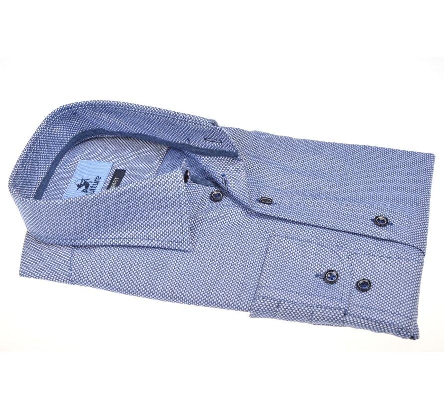 Overhemd Modern Fit Print Blauw (514155 - 37)
