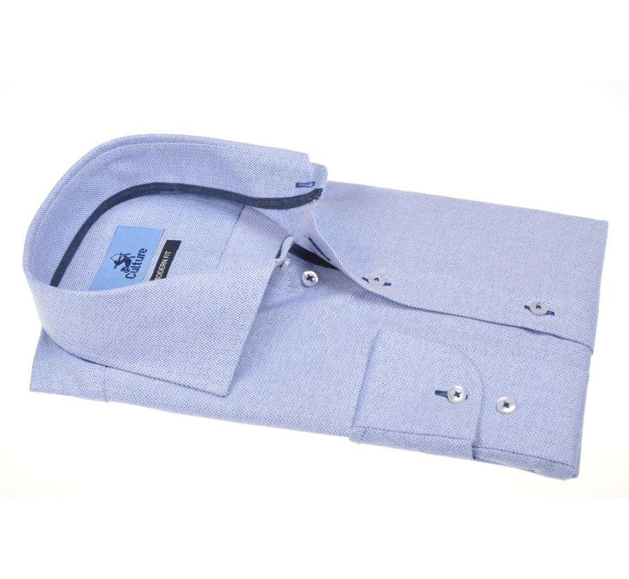 Overhemd Modern Fit Visgraat Lichtblauw (514156 - 32)