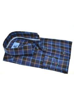 Culture Overhemd Modern Fit Ruit Blauw (514164 - 44)