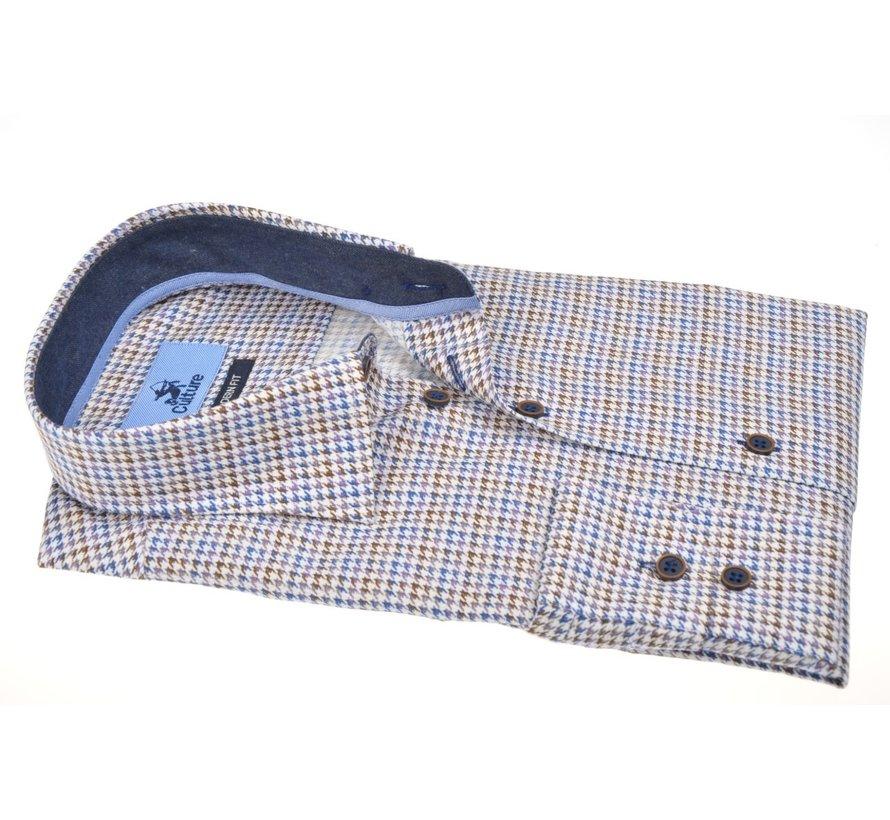 Overhemd Modern Fit Ruitjes Wit (514165 - 37)