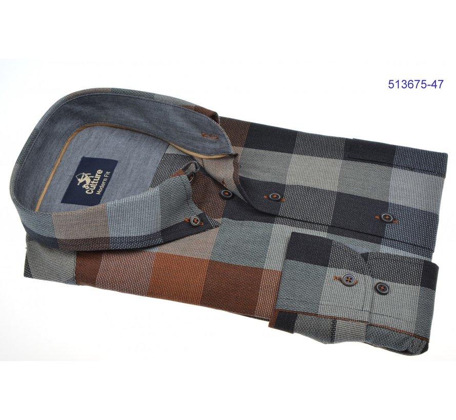 Overhemd Regular Fit Ruit Grijs (514272 - 43)
