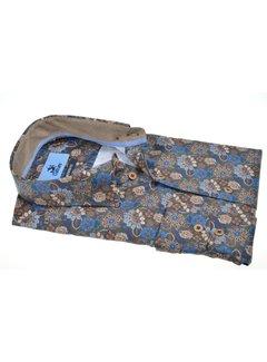 Culture Overhemd Regular Fit Bloemen Bruin (514269 - 55)