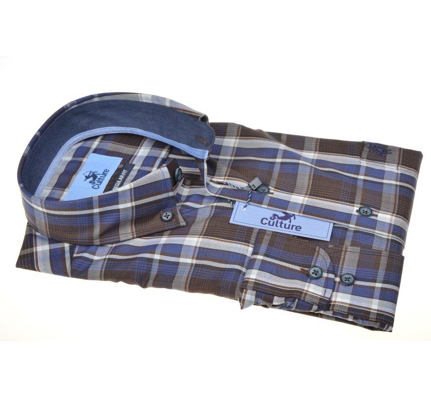 Overhemd Regular Fit Ruit Bruin (514268 - 39)