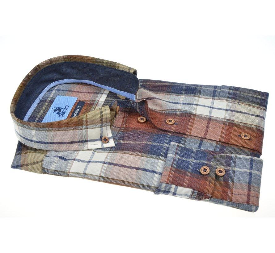 Overhemd Regular Fit Ruit Rood (514268 - 45)