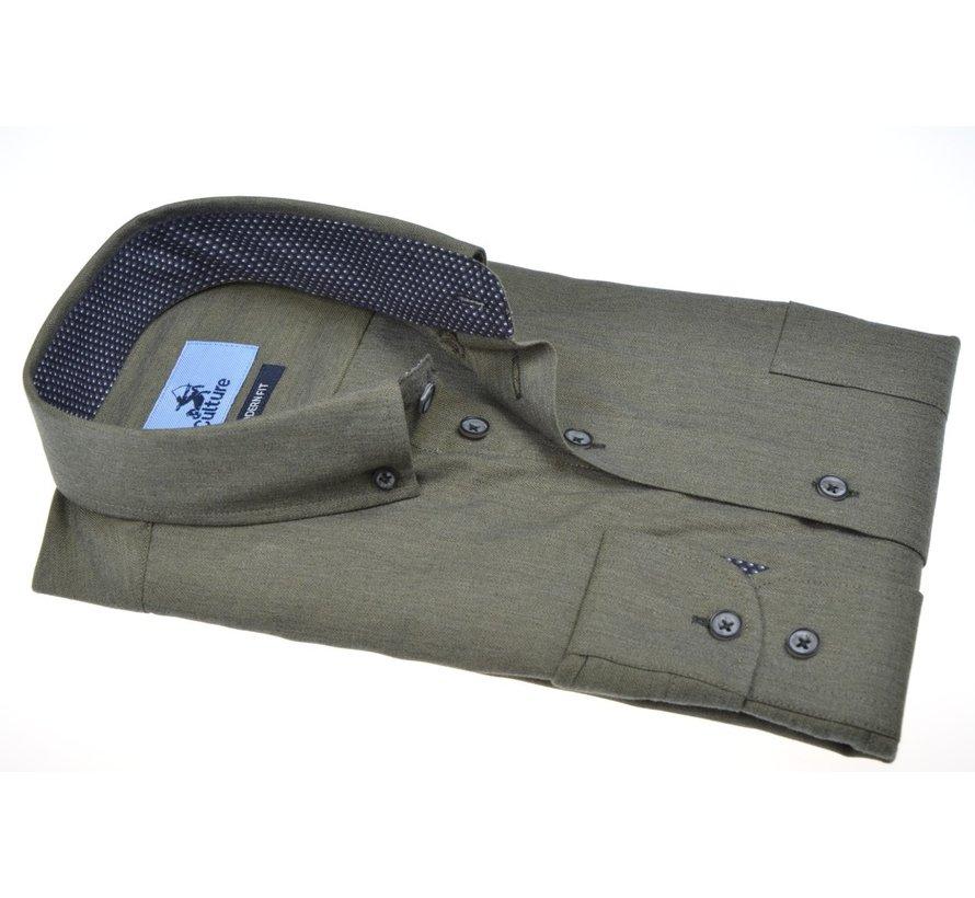 Overhemd Regular Fit Army Groen (514266 - 57)