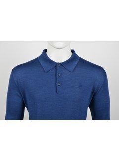 Culture Lange Mouw Polo Kobalt Blauw (514253 - 37)