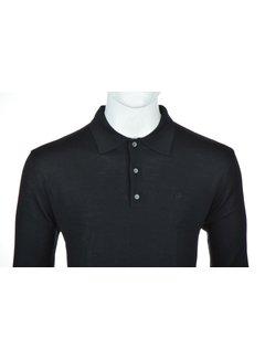 Culture Lange Mouw Polo Zwart (514253 - 20)