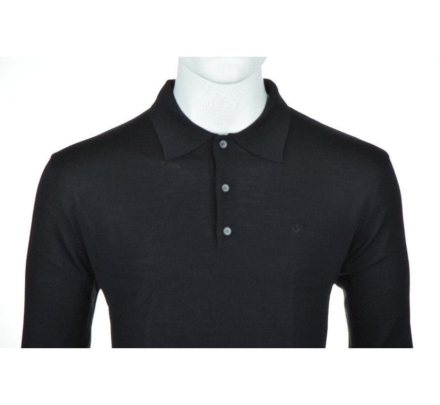 Lange Mouw Polo Zwart (514253 - 20)