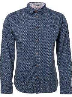 No Excess Overhemd Print Blauw (90430181 - 078)