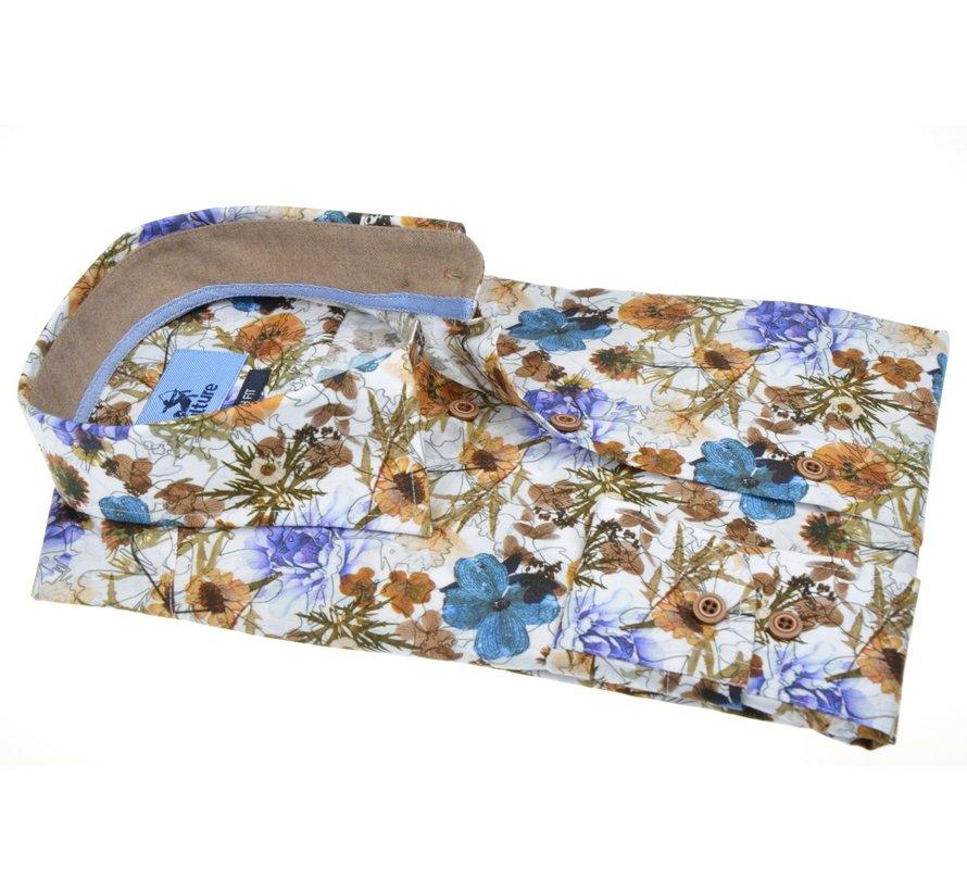 Overhemd Modern Fit Stretch Bloemen Multicolor (514207 - 96)