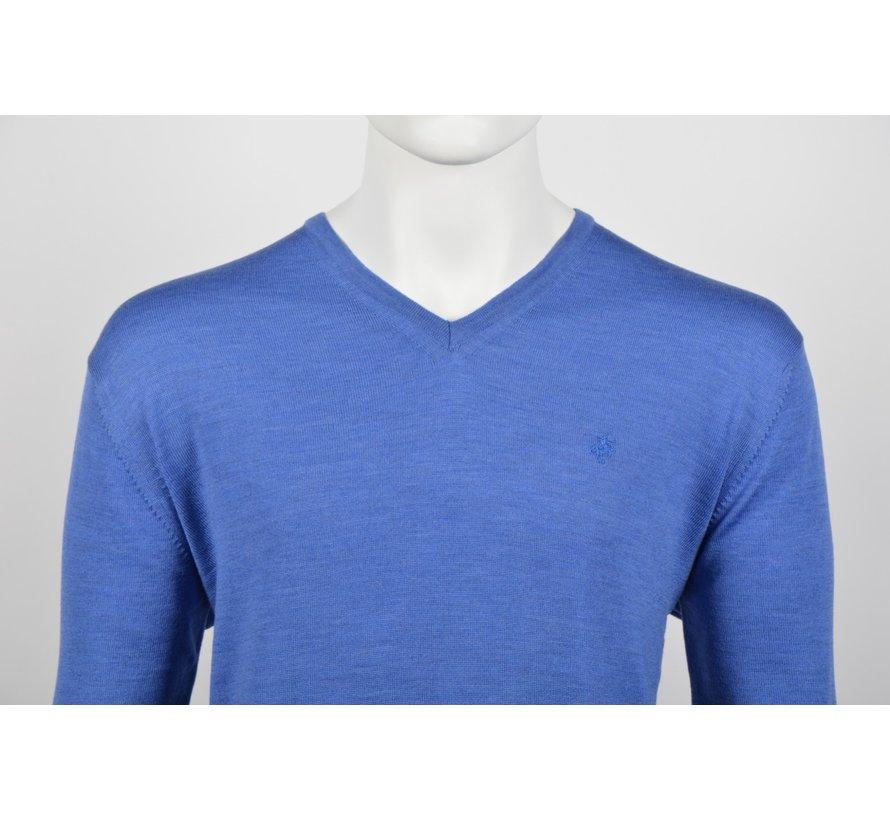 Pullover V-hals Kobalt Blauw (514251 - 34)