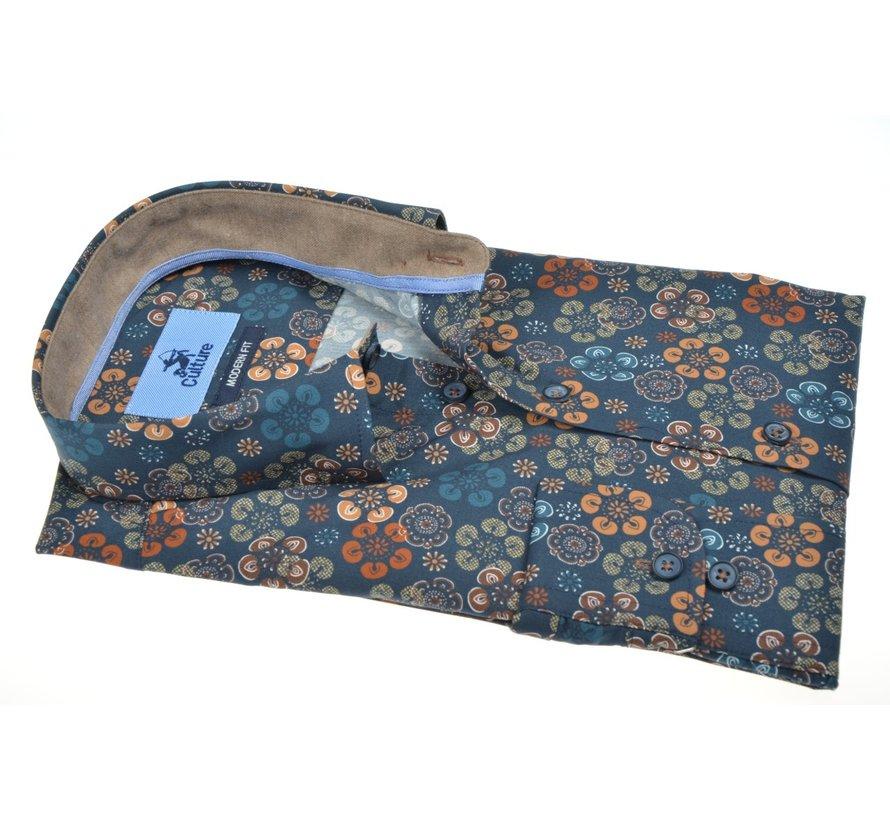 Overhemd Regular Fit Bloemen Multicolor (514262 - 45)