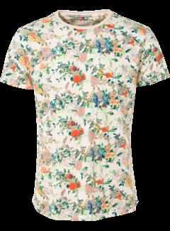 No Excess T-shirt Ronde Hals Print Wit Melange (91350432 - 100)