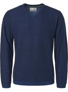 No Excess Pullover V-Hals Royal Blauw (94211116 - 135)
