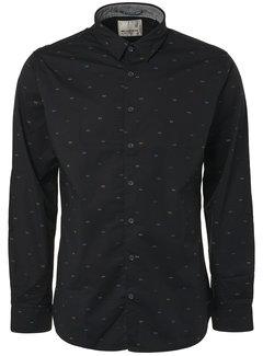 No Excess Overhemd Print Zwart (94481104 - 020)