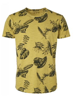 No Excess T-shirt Ronde Hals Print Lime Groen (95350217 - 056)
