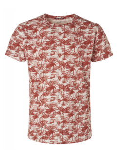 No Excess T-shirt Ronde Hals Print Cayenne Rood (95350304 - 162)