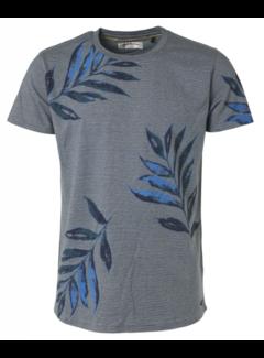 No Excess T-shirt Ronde Hals Steel Blauw (95350307 - 123)