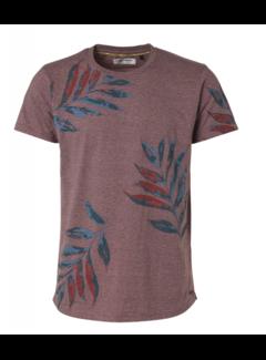 No Excess T-shirt Ronde Hals Print Cayenne Rood (95350307 - 162)