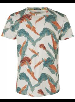 No Excess T-shirt Ronde Hals Print Wit (95360301 - 010)