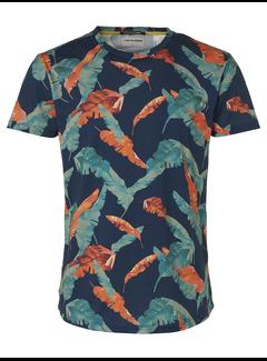 No Excess T-shirt Ronde Hals Print Navy Blauw (95360301 - 078)