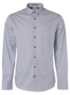 No Excess Overhemd Print Indigo Blauw (95410204 - 136)