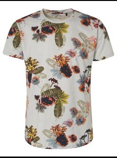 No Excess T-shirt Ronde Hals Print Chalk Wit (95350309 - 017)
