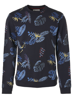No Excess Sweater Print Navy Blauw (95110101 - 078)