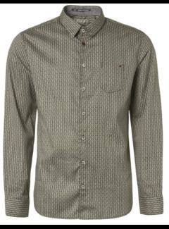 No Excess Overhemd Print Moss Groen (94481121 - 152)