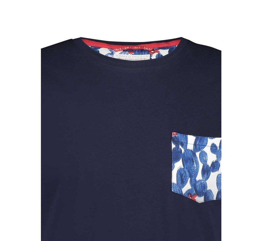 T-Shirt Navy Cactus (20.03.404)