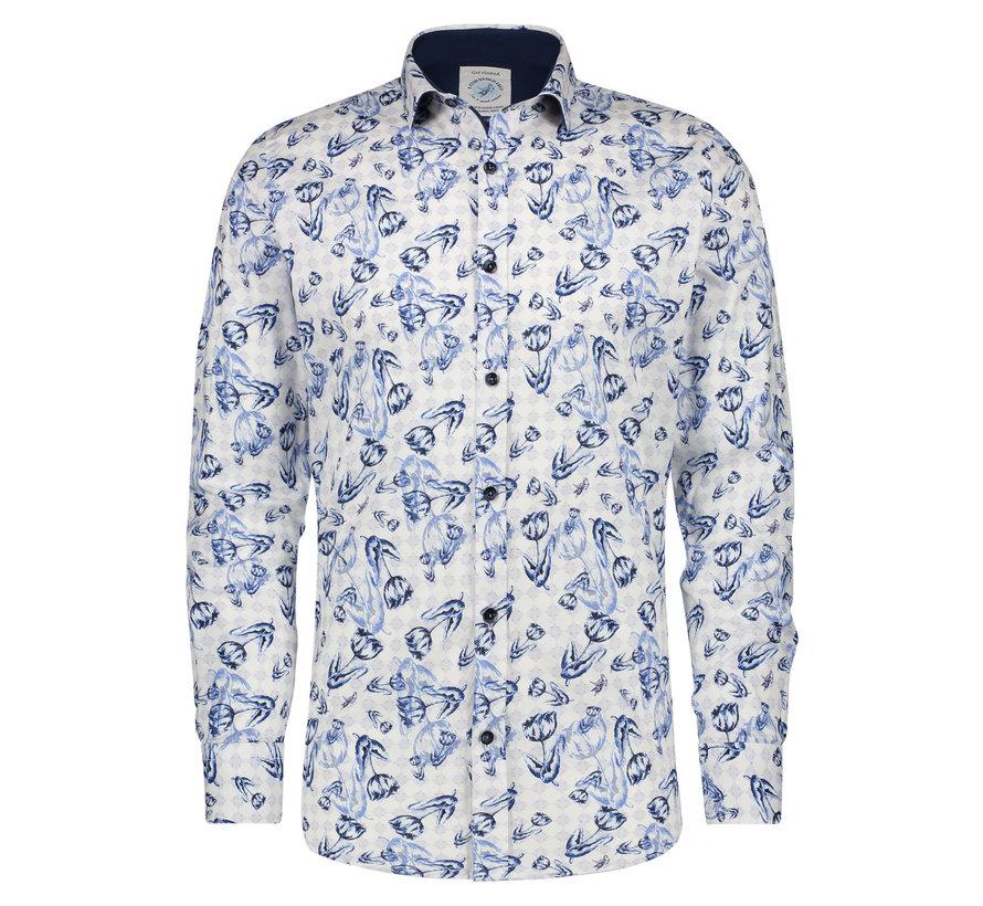 Overhemd Blue Tullips (21.01.014)