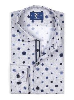 R2 Amsterdam Overhemd Verfspatten Grijs (106.WSP.072 - 028)