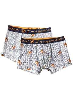 A Fish Named Fred Boxershorts Wit Print Apen (92.02.272)