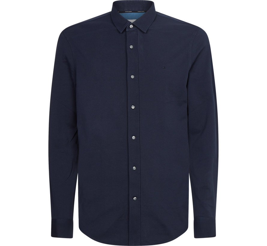 Overhemd Slim Fit Navy Blauw (K10K107113 - DW4)