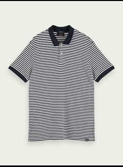 Scotch & Soda Polo Striped Bamboo-Blend Jersey Navy (158576 - 0218)