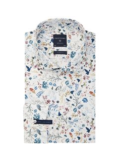 Profuomo Overhemd Extra Mouwlengte Slim Fit Print (PPRH3A1065)